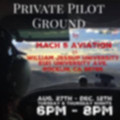 Private Pilot Ground School at Mach 5 Aviation
