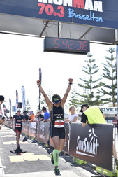 Gaby Villa Finish Line Ironman Busselton