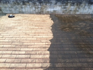 low pressure cleaning roof