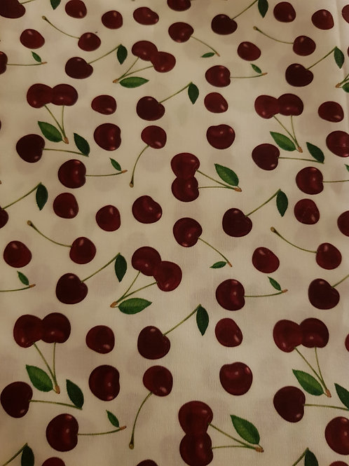 Cherries Cotton woven