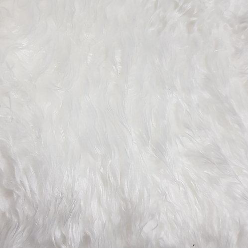 White 2 inch fur