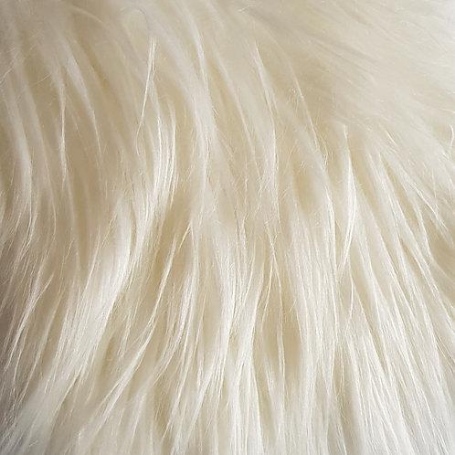White 3 inch fur