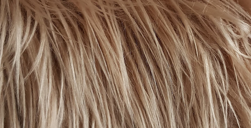 Light brown 3 inch fur
