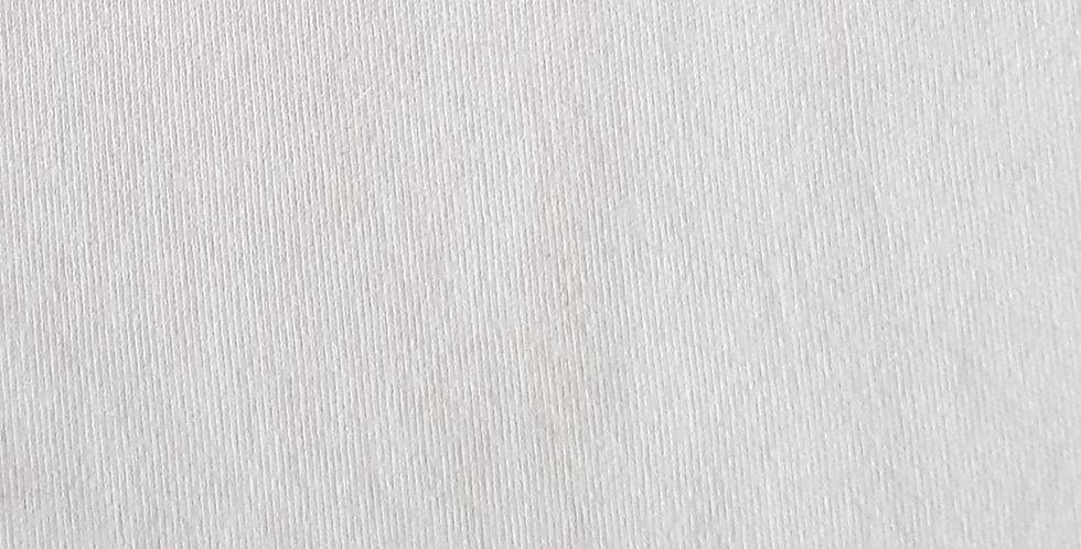 White cotton knit