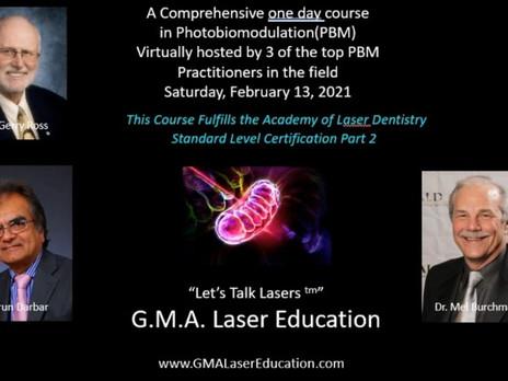 G.M.A. Laser Education Announces Photobiomodulation Symposium on February 13, 2021