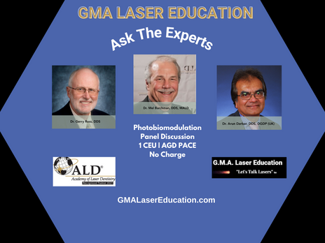 GMA Laser Education Resumes Photobiomodulation Continuing Education -Ask the Experts Series March 14