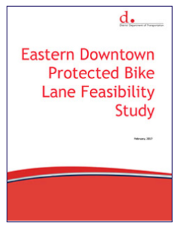 Report cover for the Eastern Downtown Protected Bike Lane Feasibility Study.
