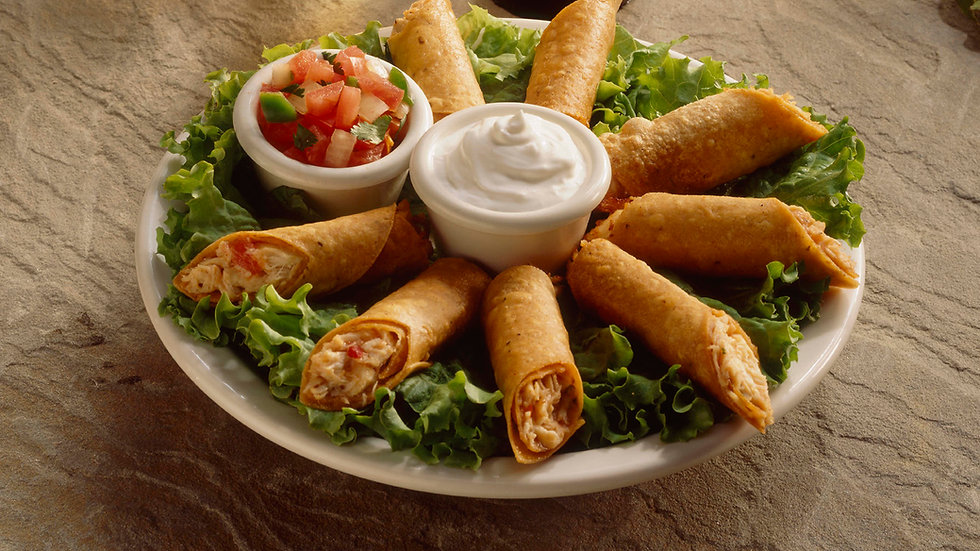 Crispy Chicken Flautas with Dipping Sauce