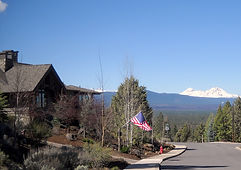Awbrey Butte home with Cascade Range in the background