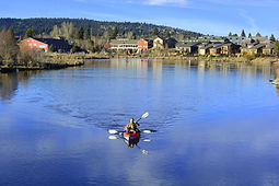Kayaking on the Deschutes River in Bend Oregon