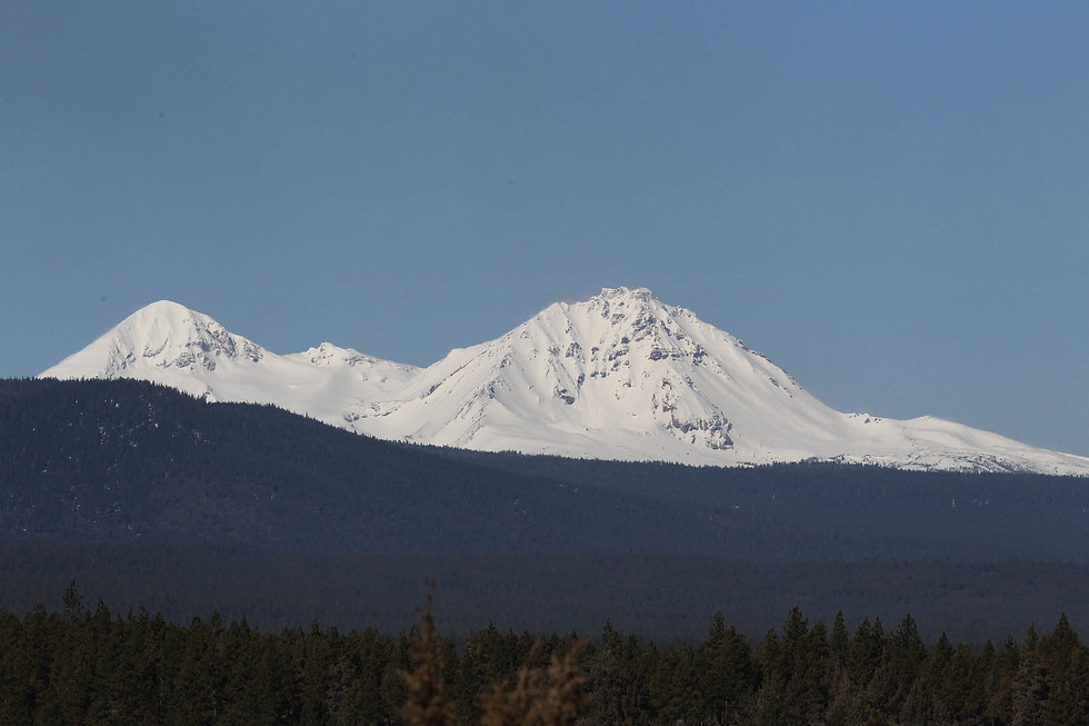 View of Three Sisters from Awbrey Butte in Bend Oregon