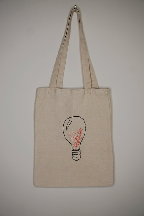 Coral in Light Bulb Tote Bag