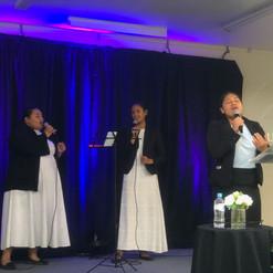 Latisha Pange leading Worship