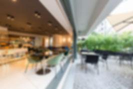 indoor-outdoor office social hub