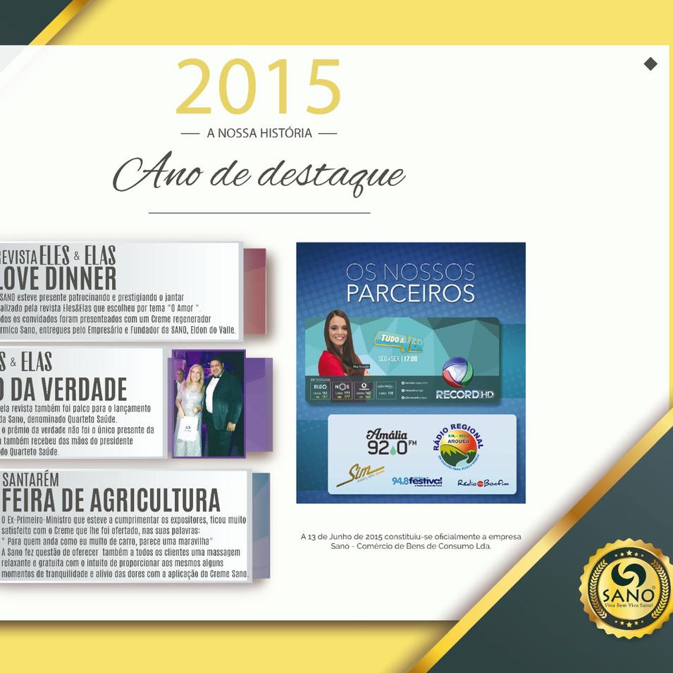 Ano de Destaque - 2015