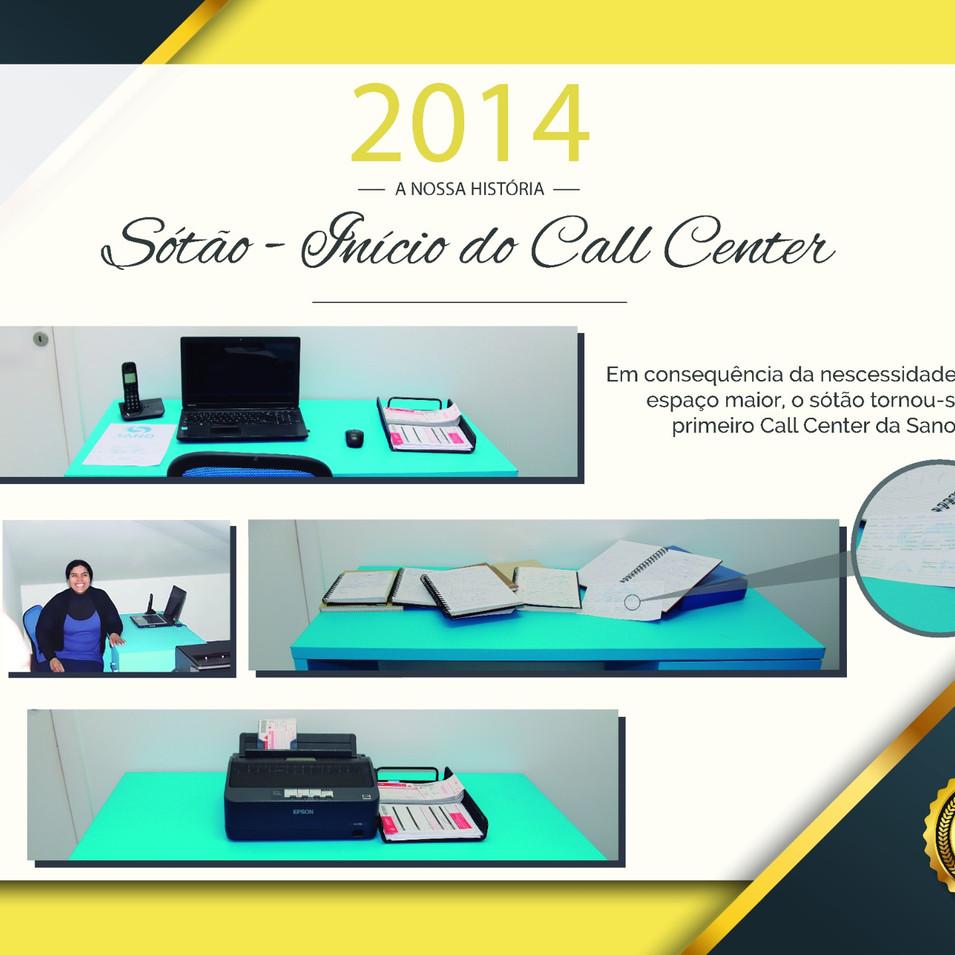 Inicio do Call Center - 2014