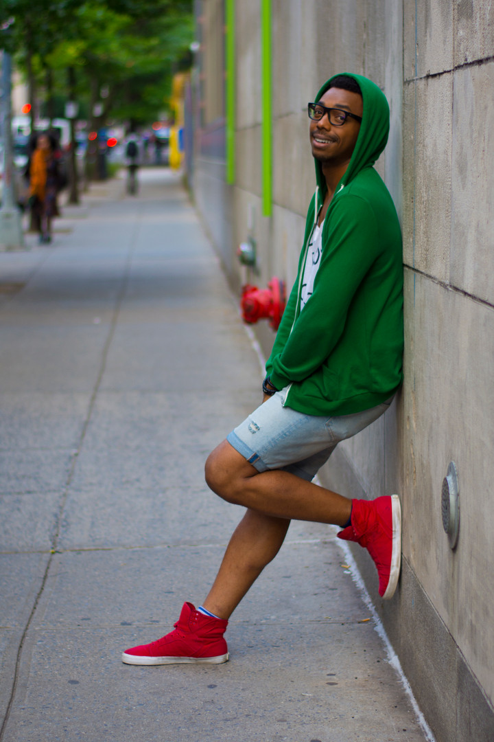 Xav A. in Green Hoodie, Square - David A