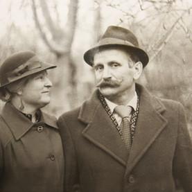 B & W Foto de una pareja