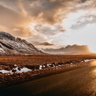 Borganes. Iceland winter