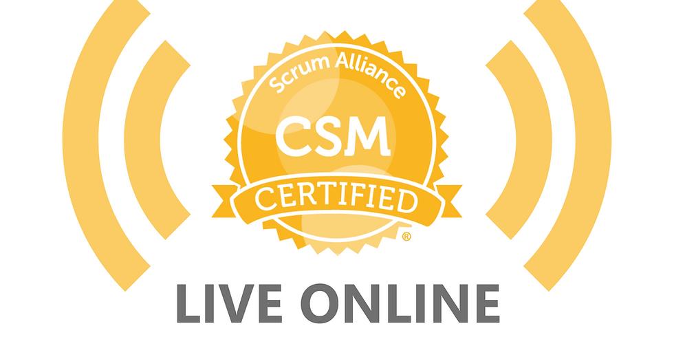 LIVE ONLINE - 2-Day Scrum Master Course (CSM)
