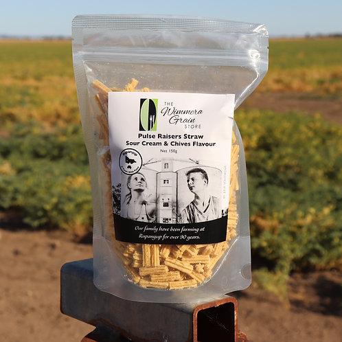 Pulse Raisers Straw Sour Cream Chives 150g  - 20 per box