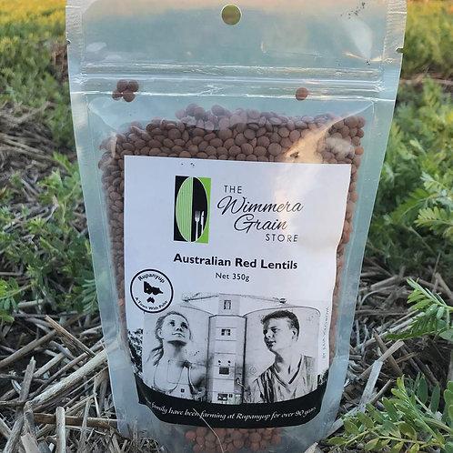 Australian Whole Red Lentils 350g - Box of 10