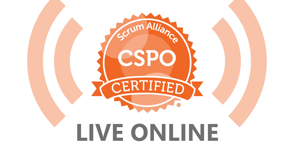 LIVE ONLINE - 2-Day Product Owner Course (CSPO)