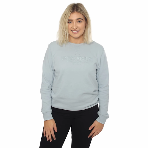 LADIES RINGERS WESTERN KOOYONG CREW NECK- DUSTY BLUE