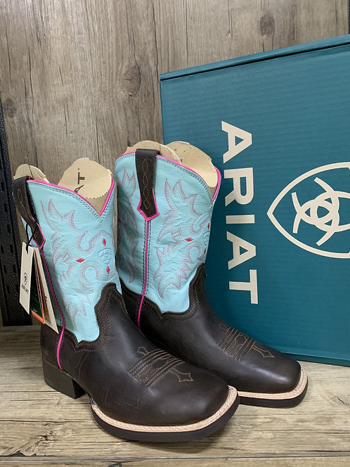 KIDS ARIAT TOMBSTONE -BAY BROWN/BELL BLUE