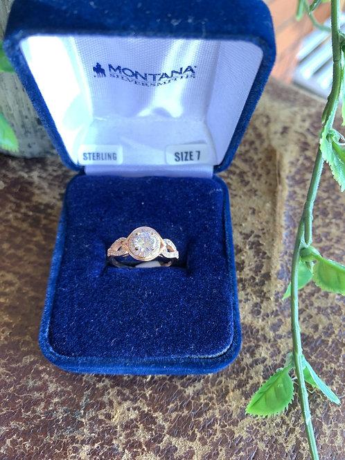 MONTANA ROSE GOLD ZIRCONIA RING