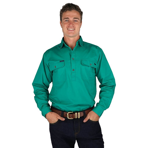 MENS RINGERS WESTERN KING RIVER 1/2 BUTTON WORK SHIRTS