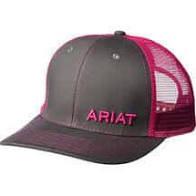LADIES ARIAT MESH SNAP CLOSE CAP CHOC/PINK