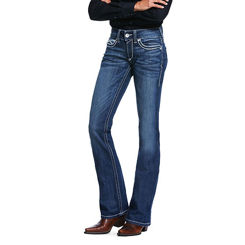 LADIES ARIAT R.E.A.L MID RISE STRETCH HEIRLOOM BOOTCUT