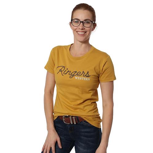 LADIES RINGERS WESTERN Chamberlain Womens Classic T-Shirt Mustard