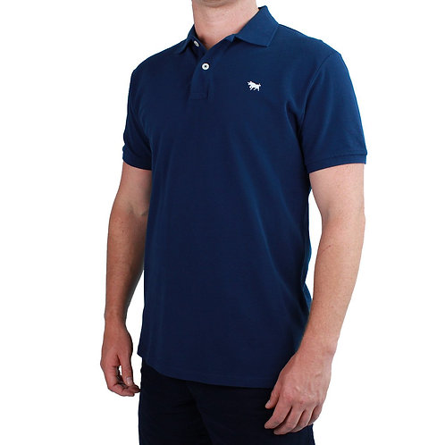MENS RINGERS WESTERN Classic Polo Shirt Navy