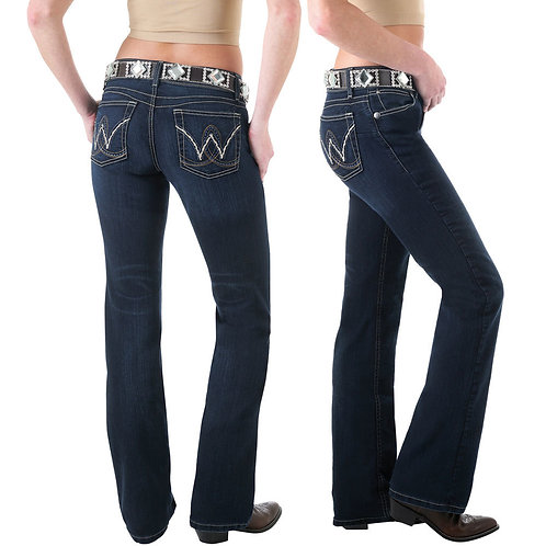 "LADIES WRANGLER Premium Patch Booty Up ""Carolina Breakaway"" Jean - 10MWZBR"