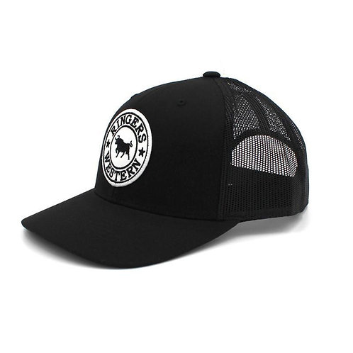 RINGERS WESTERN Signature Bull Trucker Black with Black & White Patch