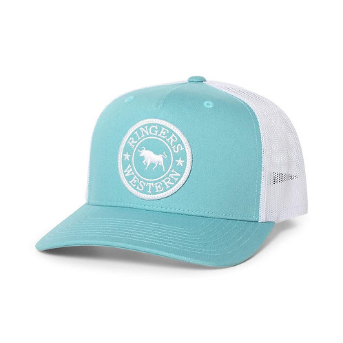 RINGERS WESTERN Signature Bull Trucker Dusty Jade & Wh.w/ Wh. & Dusty Jade Patch
