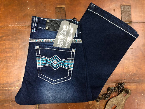 LADIES PURE WESTERN INDIANNA RELAXED RIDER JEAN