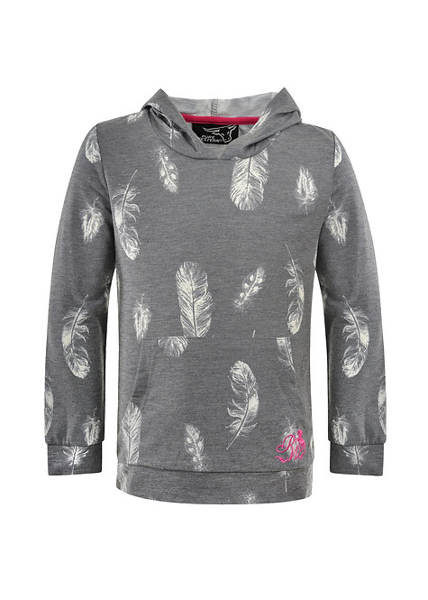 GIRLS PURE WESTERN TINA HOODED L/S TEE