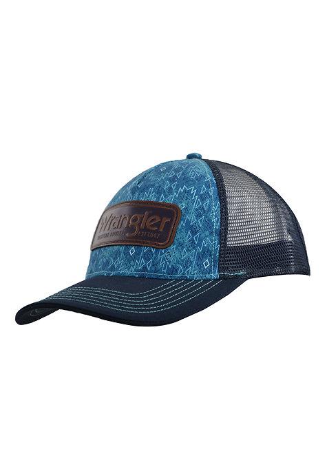 WRANGLER EDWARDS TRUCKER CAP- AQUA