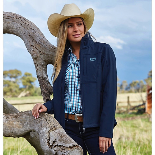 LADIES WRANGLER LOGO SOFTSHELL JACKET