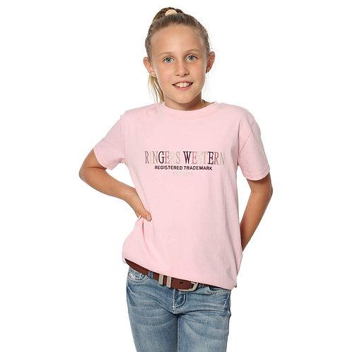 KIDS RINGERS WESTERN BONDI LOOSE FIT TEE- PINK
