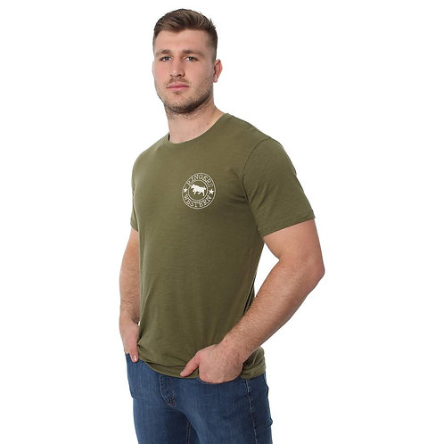 RINGERS WESTERN MENS Carson River  Classic T Shirt Army