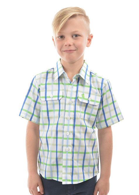 BOYS THOMAS COOK JACK CHECK S/S SHIRT