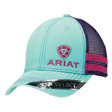 LADIES ARIAT MESH SNAP CLOSE CAP - TURQUOISE