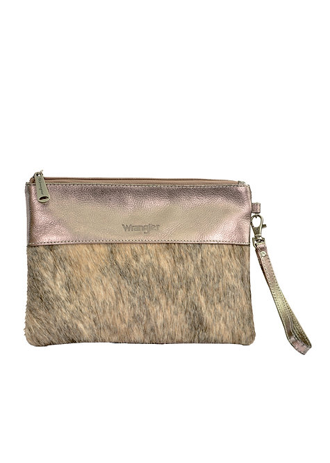 LADIES WRANGLER COWHIDE POUCH