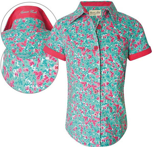 GIRLS THOMAS COOK ROSEBERRY PRINT S/S SHIRT