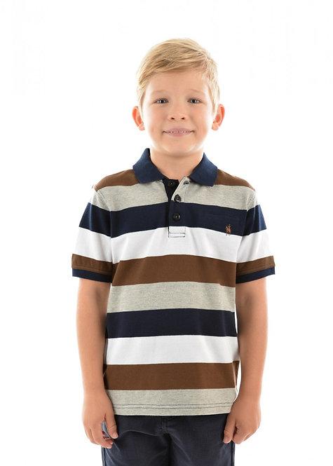 BOYS THOMAS COOK HOPETOWN STRIPE 1-PKT S/S POLO