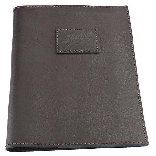 AKUBRA FLINDERS A5 PAD FOLIO - BROWN LEATHER